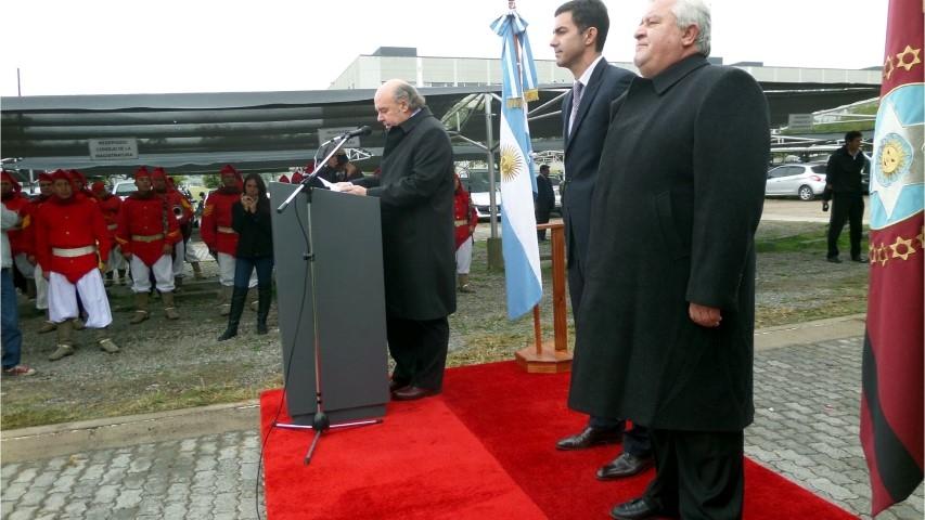 El juez de la Corte y presidente del Consejo, Abel Cornejo, haciendo uso de la palabra