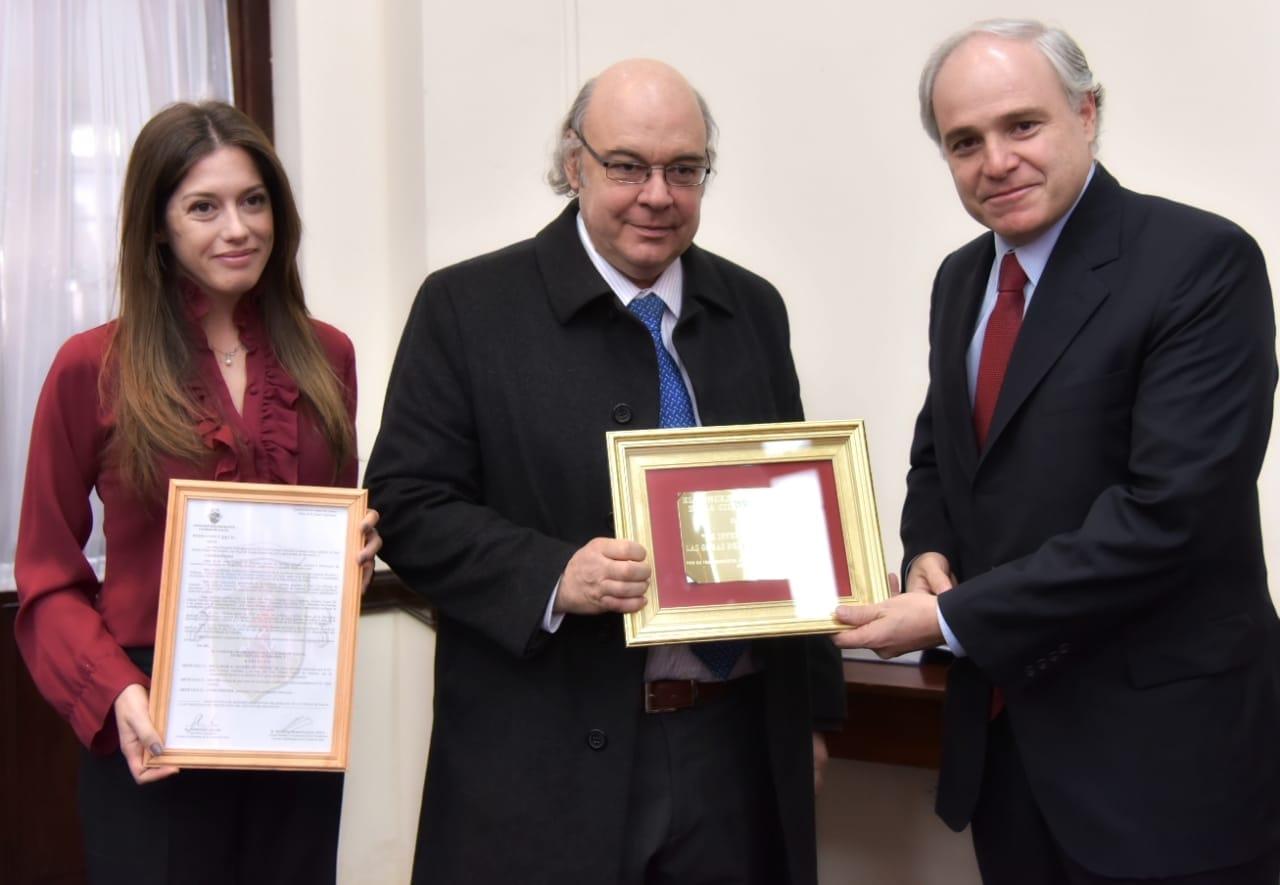 Distinción recibida por Abel Cornejo en el Concejo Deliberante de la Ciudad de Salta