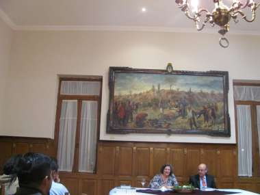 Foto: Sara Mata expuso sobre la estrategia que se puso en marcha en la guerra de la Independencia.