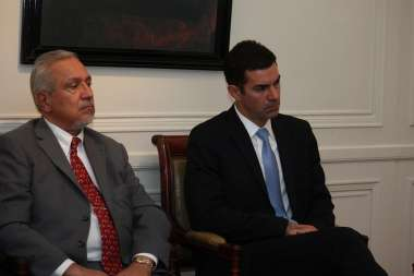 Foto: Juan Manuel Urtubey y Juan Carlos Romero participaron de la sesión de la Academia