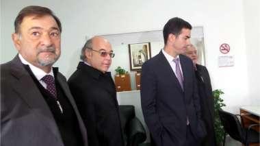 Foto: El gobernador y el vicegobernador junto los jueces de la Corte de Justicia
