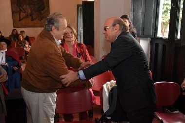 Foto: El juez de la Corte, Abel Cornejo, saludando a los presentes