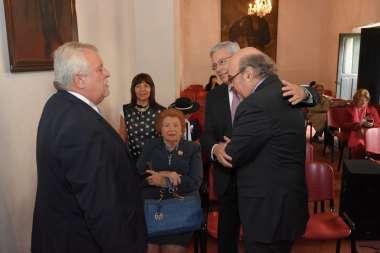 Foto: Jueces de Corte acompañaron a Abel Cornejo durante la ponencia