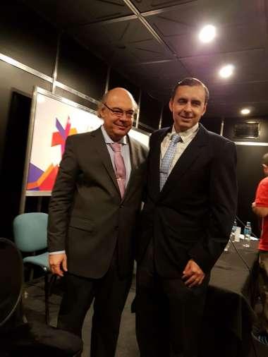 Foto: Abel Cornejo acompañado por el Tnte. Cnel. José María Protti