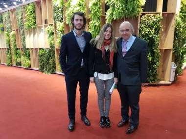 Foto: Abel y Verónica, acompañaron a su padre en la presentación