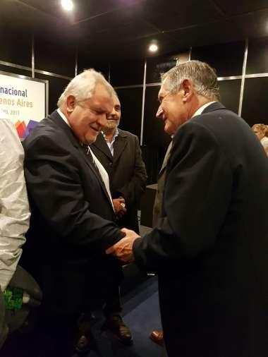 Foto: El presidente de la Corte, Guillermo Catalano, junto a Edmundo del Cerro