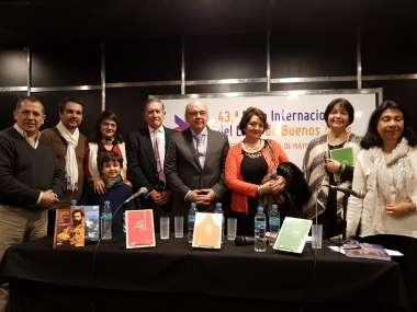 Foto: El secretario de Cultura, Sergio Bravo, junto a autores y organizadores