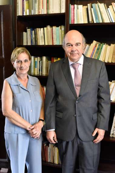 Foto: Abel Cornejo junto a Inés Zadro