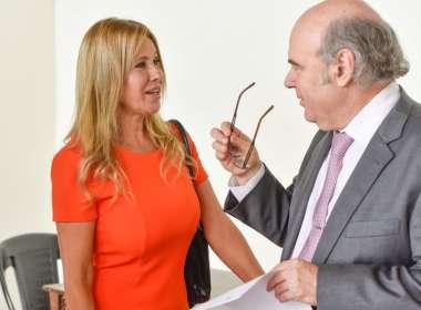 Foto: Abel Cornejo junto a Elizabeth Kiriaco Turitich