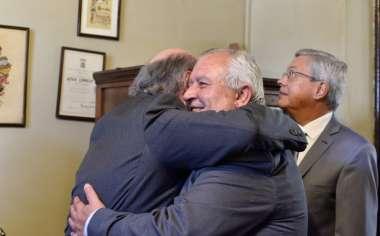 Foto: Abel Cornejo junto al Presidente de la Corte de Justicia, Dr. Guillermo Catalano.