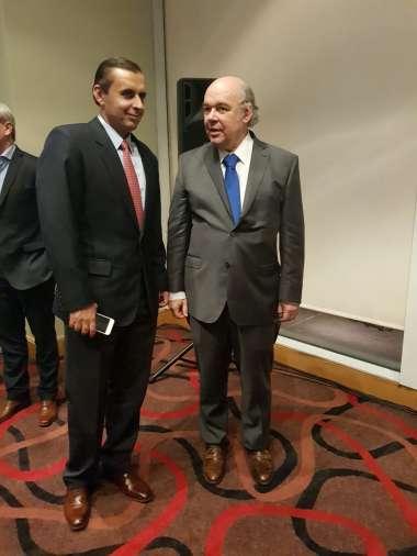 Foto: Abel Cornejo junto al Teniente Coronel José María Protti