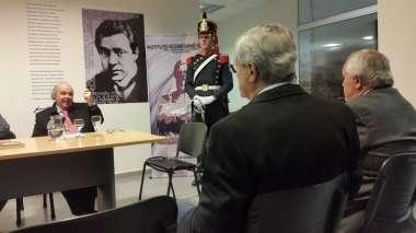 Foto: Asistieron a la conferencia los Sres. Ministros de la Corte de Justicia, Dres. Guillermo Catalano y Guillermo Posadas