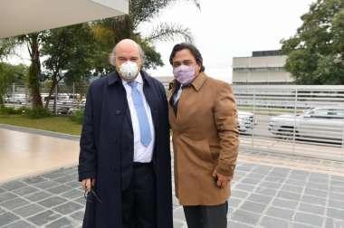 Foto: Procurador General de la Provincia Dr. Abel Cornejo- Gobernador Dr. Gustavo Sáenz