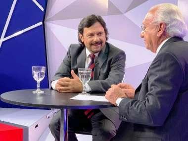 El intendente Gustavoa Sáenz con Mario Peña, en Cara a Cara
