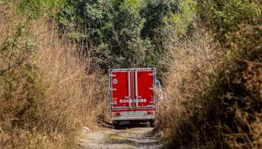 El cadáver de Sandra Palomo apareció en medio de uno yuyales, en las márgenes del río Arenales. Javier Corbalán