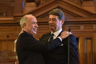 Ricardo Lorenzetti y Horacio Rosatti, en tiempos de armonía. ALBERTO RAGGIO